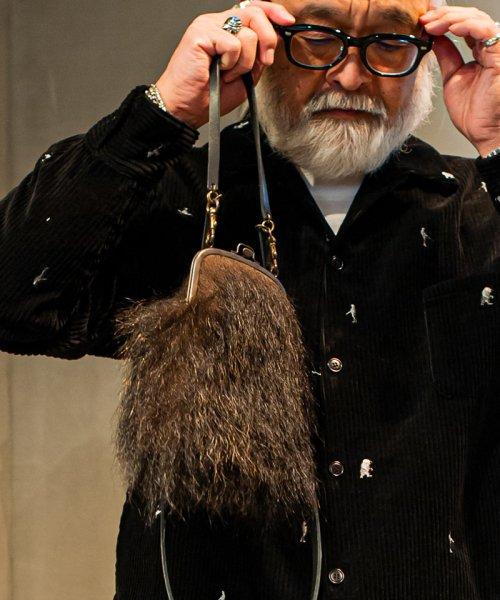[予約商品]SEVESKIG/セブシグ SHO-65-Wild Bear hair shoulder bag Mid