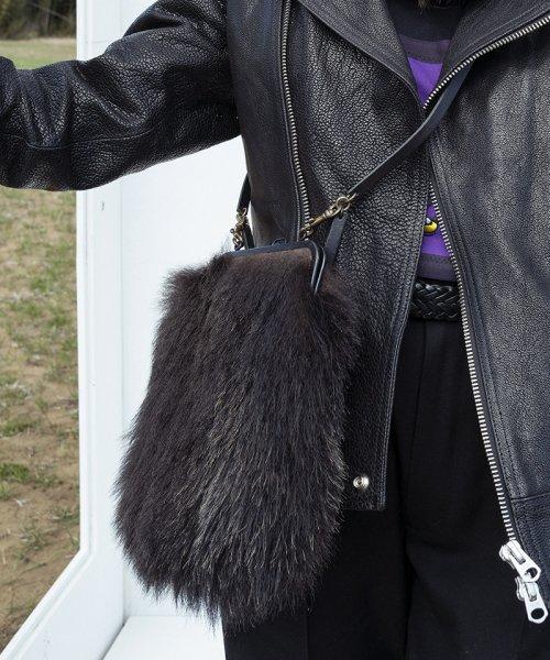 [予約商品]SEVESKIG/セブシグ SHC-31-Wild Bear hair shoulder bag Large