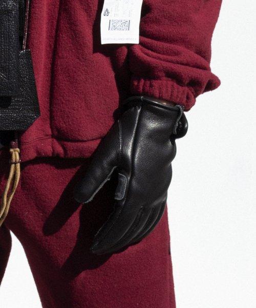 [予約商品]SEVESKIG/セブシグ Steerhide miring Gloves with Silk Fleece