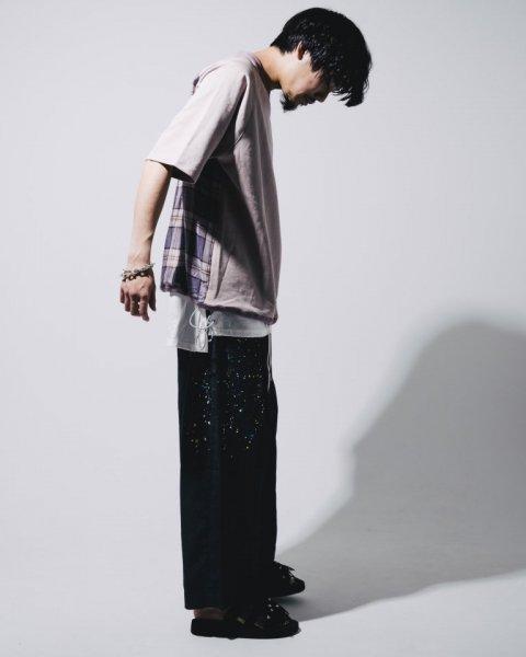 [予約商品] EFFECTEN(エフェクテン)glad wide pants (paint)