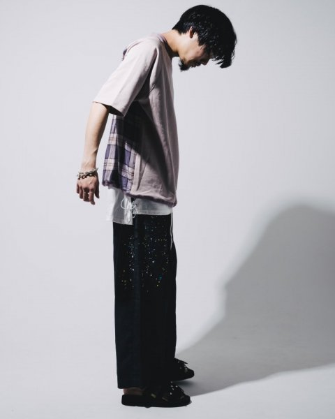 EFFECTEN(エフェクテン)glad wide pants (paint)