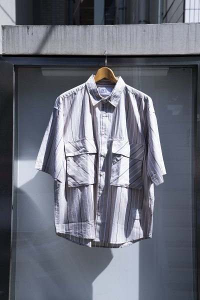 U-BY EFFECTEN(ユーバイエフェクテン) s/s stripe shirts