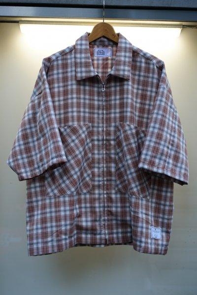 U-BY EFFECTEN(ユーバイエフェクテン)check zip shirts