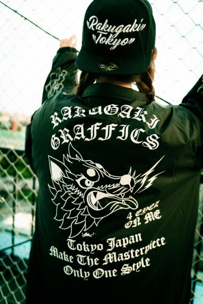 "[予約商品] RAKUGAKI / Rakugaki ""KUROSHIBA"" Coach Jaket"