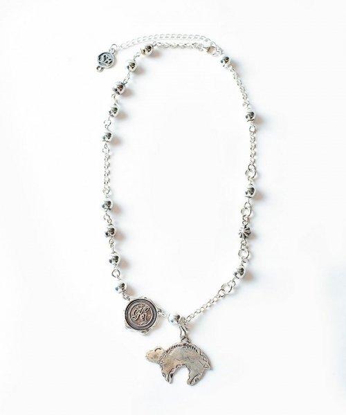 [予約商品2022Spring&summer] SEVESKIG/セブシグ / EIKI SUGAYASilver bead necklace