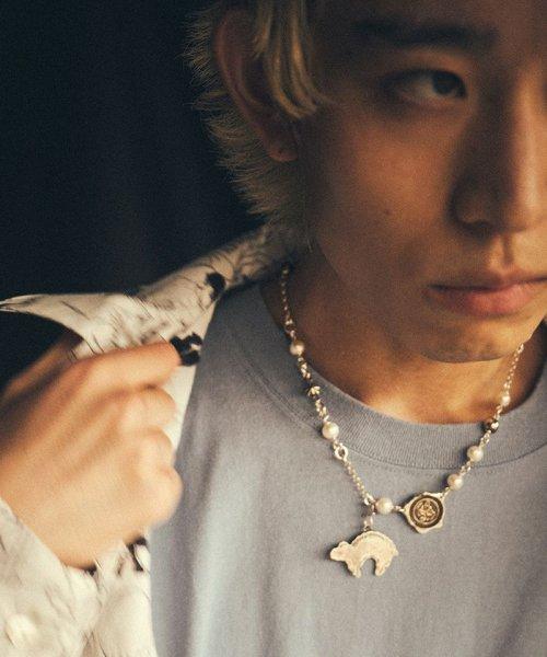 [予約商品2022Spring&summer] SEVESKIG/セブシグ/EIKI SUGAYAFreshwater pearl & silver necklace