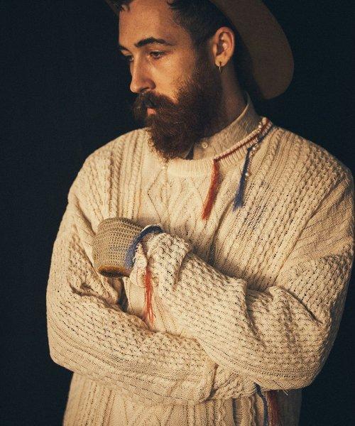 [予約商品2022Spring&summer] SEVESKIG/セブシグ/ Japanese Paper cable knit pullover