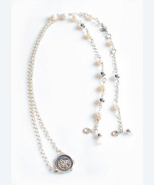 [予約商品] SEVESKIG/セブシグ/ EIKI SUGAYAFreshwater pearl & silver necklace Mask & Glasses Holder