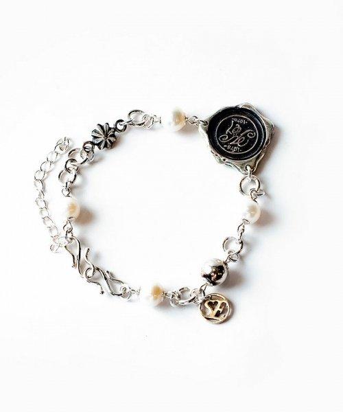 [予約商品2022Spring&summer] SEVESKIG/セブシグ/ EIKI SUGAYAFreshwater pearl & silver bracelet