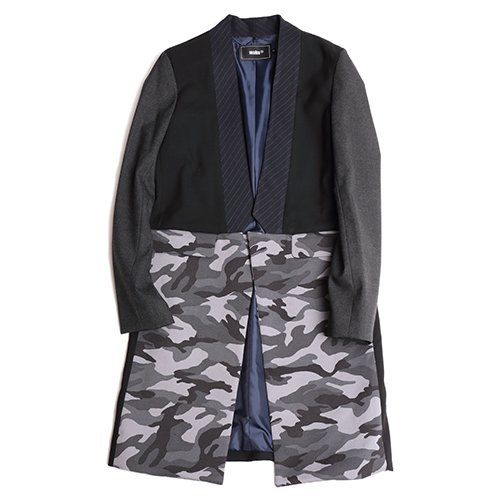 waku2/ワクワク  Camouflage Check Long Jaket