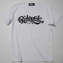 RAKUGAKI /楽書き  RAKUGAKI Main logo T-Shirts    WHITE×BLACK  Charcoal x White