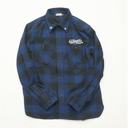 RAKUGAKI /楽書き  RAKUGAKI Work Check Nell Shirts(BLUE CHECK)