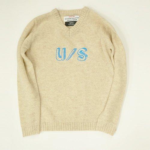 EFFECTEN/エフェクテ SAY/セイ2016 limited item collaboration U/S` shetland wool sweater