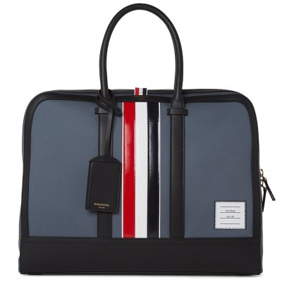 ■THOM BROWNE LEATHER STRIPE MACKINTOSH DAY BAG