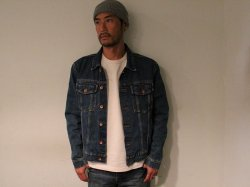 <img class='new_mark_img1' src='//img.shop-pro.jp/img/new/icons14.gif' style='border:none;display:inline;margin:0px;padding:0px;width:auto;' />BRIXTON(ブリクストン)Cable Denim Jacket/Worn Indigo