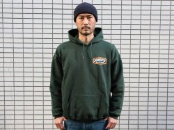 <img class='new_mark_img1' src='//img.shop-pro.jp/img/new/icons50.gif' style='border:none;display:inline;margin:0px;padding:0px;width:auto;' />JAKS別注 x JOKER'S SKATE SHOP(ジョーカーズスケートショップ)Classic Logo Hoody/Forest Green