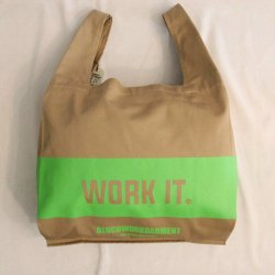 <img class='new_mark_img1' src='https://img.shop-pro.jp/img/new/icons14.gif' style='border:none;display:inline;margin:0px;padding:0px;width:auto;' />BLUCO(ブルコ)Eco Bag/OL-031-021/Beige-Fluorescent Green