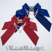【受注商品】ロゴ刺繍パールリボンブローチ(2色)