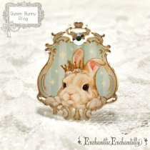 <img class='new_mark_img1' src='//img.shop-pro.jp/img/new/icons50.gif' style='border:none;display:inline;margin:0px;padding:0px;width:auto;' />Queen Bunny Ring(ミントグリーン)