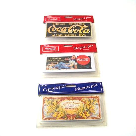 レトロアドコレクション メタルプリントマグネット No.1 Coca-Cola