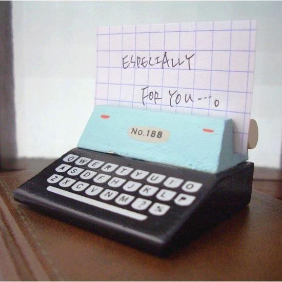 DECOLE デコレ POULAIN プーラン タイプライターカードスタンド GR -ZPL-31451