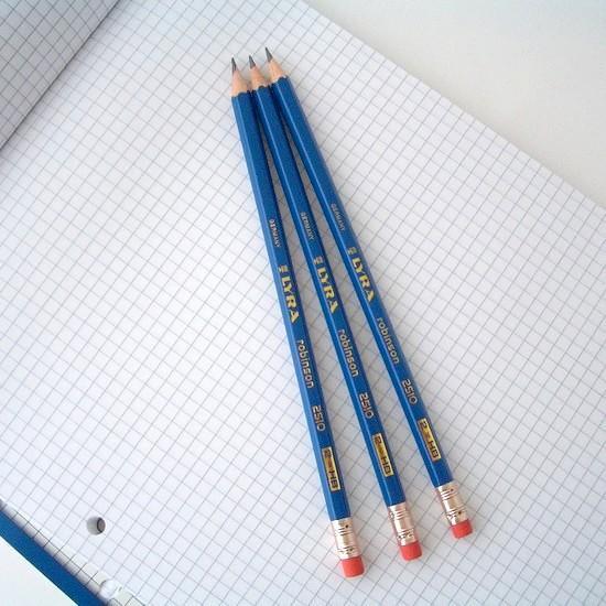 LYRA robinson リラ ロビンソン 2510-HB 消しゴム付き鉛筆