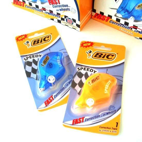 BIC ビック SPEEDY 修正テープ オレンジ / ブルー