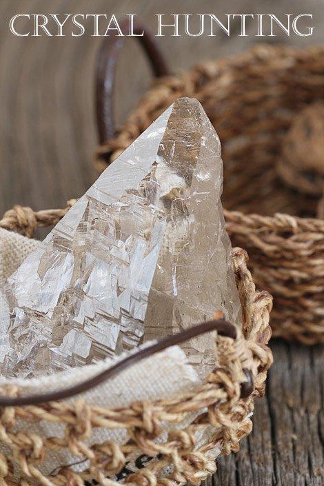 【天然石:スイス水晶】カテドラル・スモーキークォーツ(煙水晶)・原石(プライザー人形付)