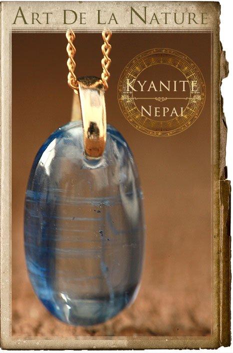 【天然石ペンダント】カイヤナイト(ネパール産)・ペンダントトップ(ネックレス別売)