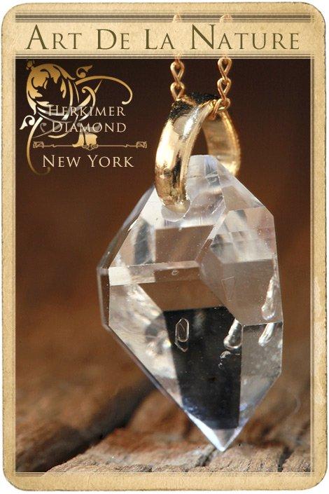 【天然石ペンダント】ハーキマーダイヤモンド(アメリカ産)・ペンダントトップ(ネックレス別売)