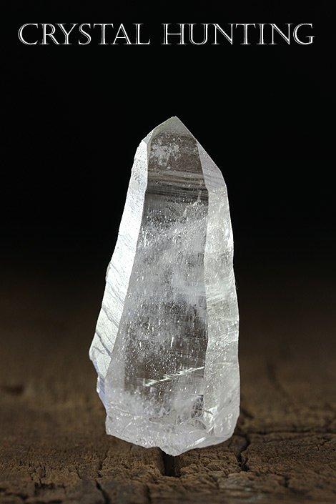 【ガネーシュヒマール山脈・リー産】ヒマラヤ水晶・ポイント原石(プライザー人形付)