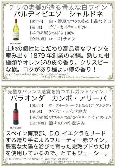 どんなワインか解説したワイン説明シート付き!