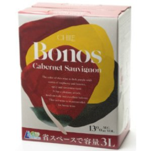 ボノス カベルネソーヴィニョン バッグ・イン・ボックス 3L(通常のワイン4本分/1本あたり548円と超コスパ!)