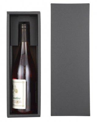高級感のあるブラックのワイン1本用ギフトボックス(化粧箱)