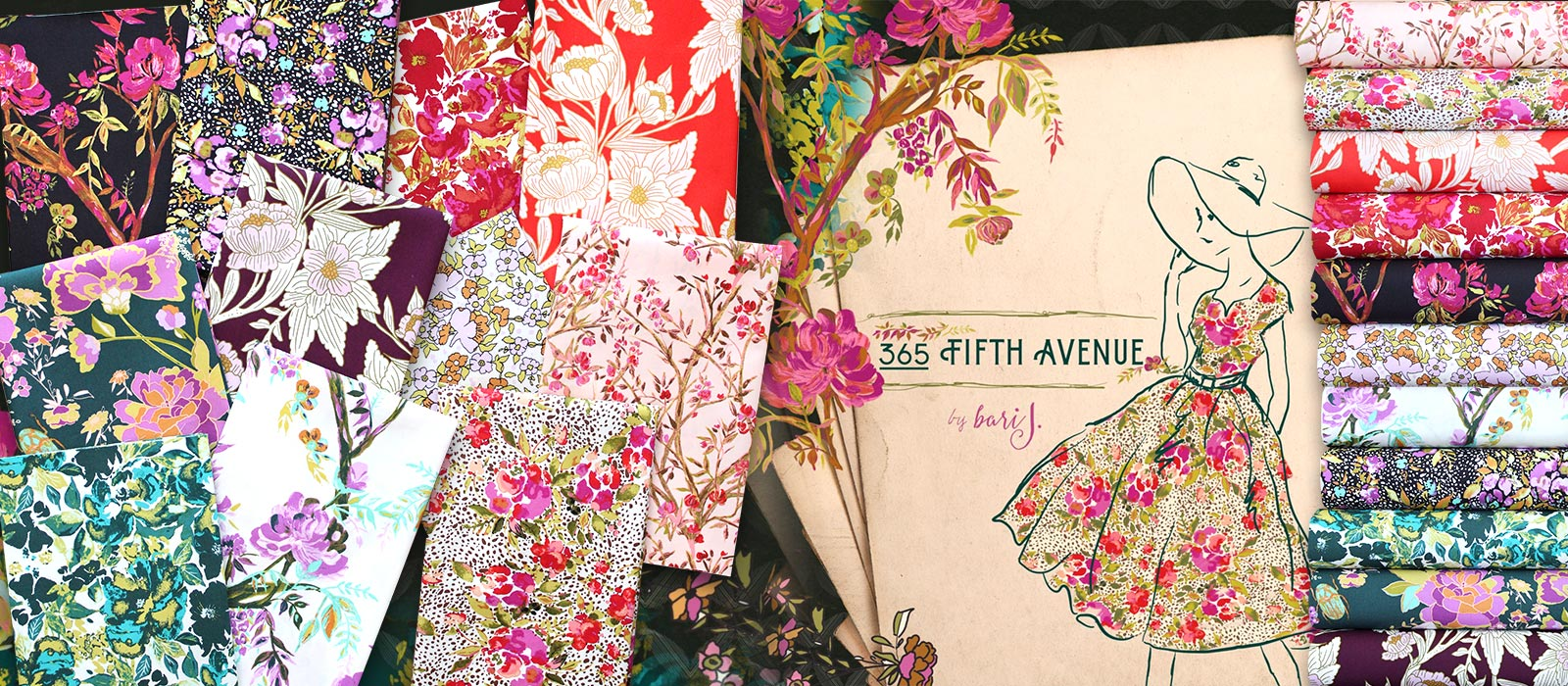 Art Gallery Fabrics 365 Fifth Avenue Collection by Bari J.