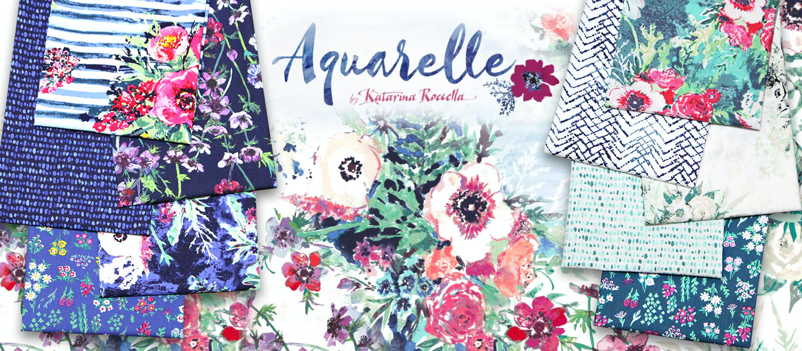 Art Gallery Fabrics Aquarelle Collection by Katarina Roccella
