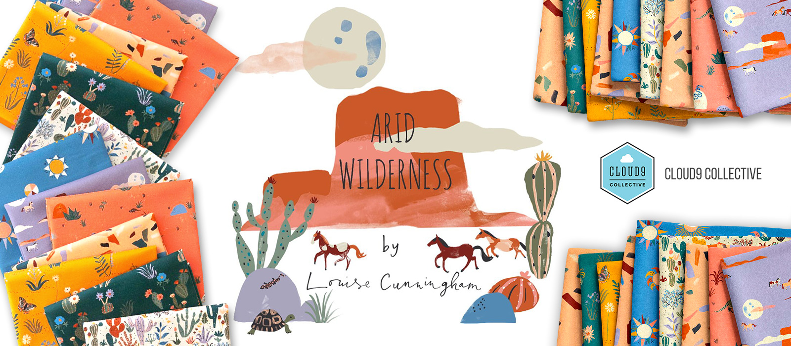 Cloud9 Fabrics Arid Wilderness Collection by Louise Cunningham