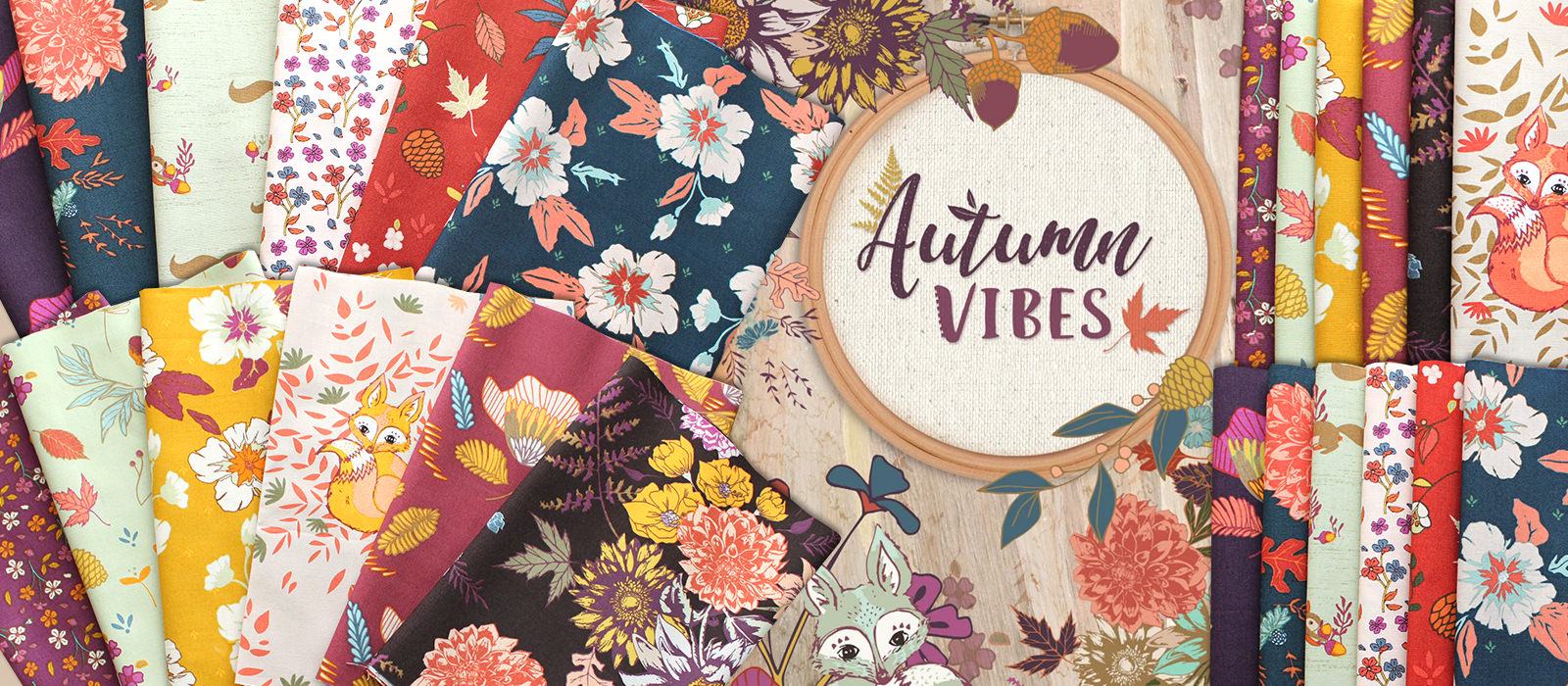 Art Gallery Fabrics Autumn Vibes Collection by Maureen Cracknell