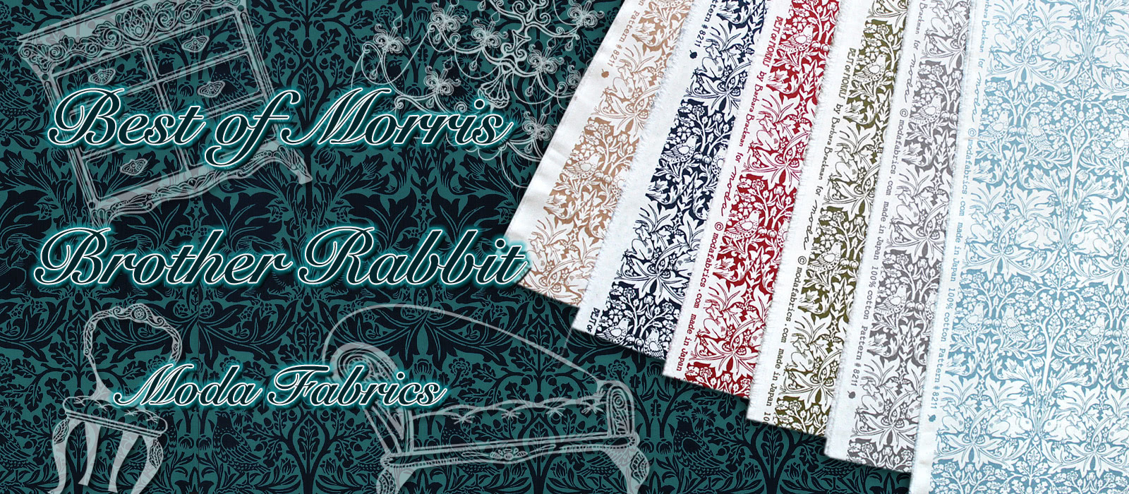 Moda Fabrics Best of Morris Brother Rabbit