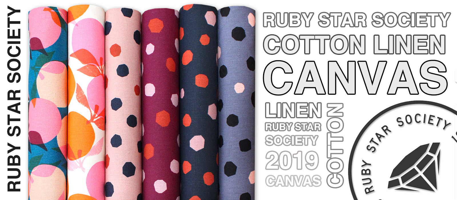 Ruby Star Society Cotton Linen Canvas 2019 Collection