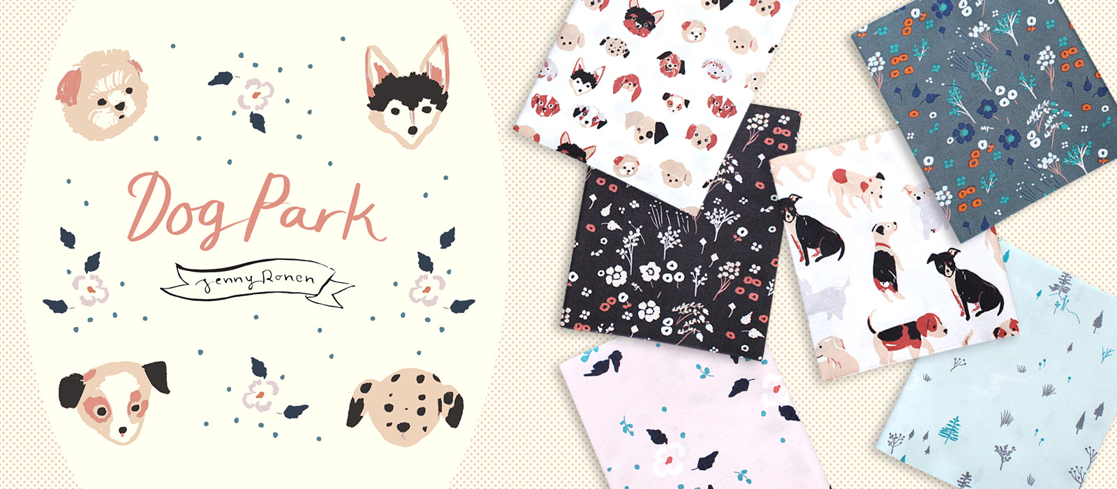 Birch Fabrics Dog Park Collection by Jenny Ronen