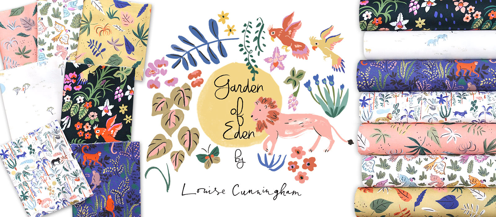 Cloud9 Fabrics Garden of Eden Collection by Louise Cunningham