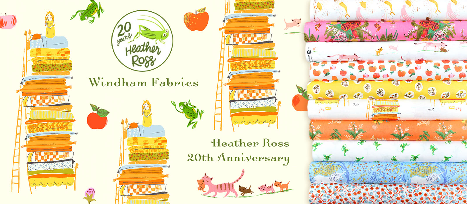 Windham Fabrics Heather Ross 20th Anniversary Collection