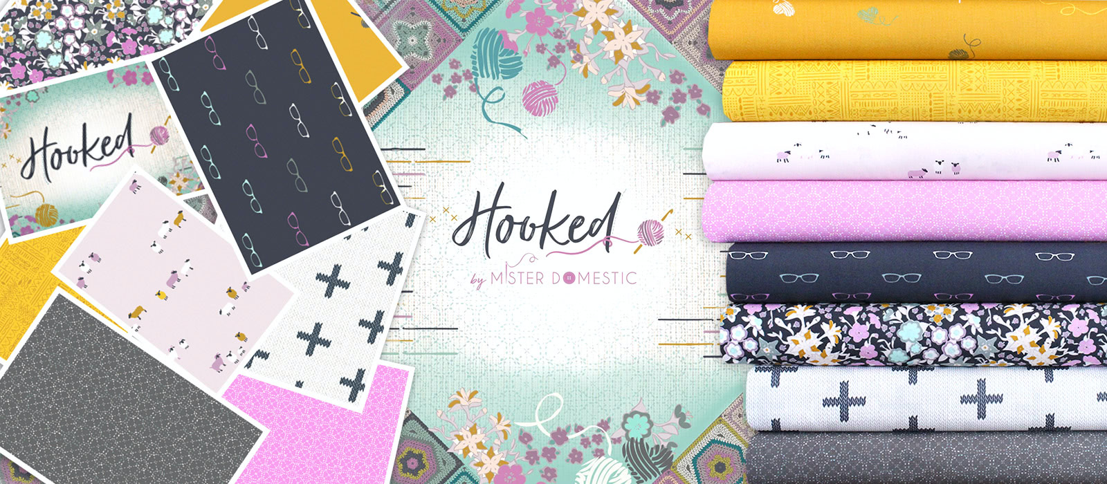 Art Gallery Fabrics Hooked Collection by Mister Domestic