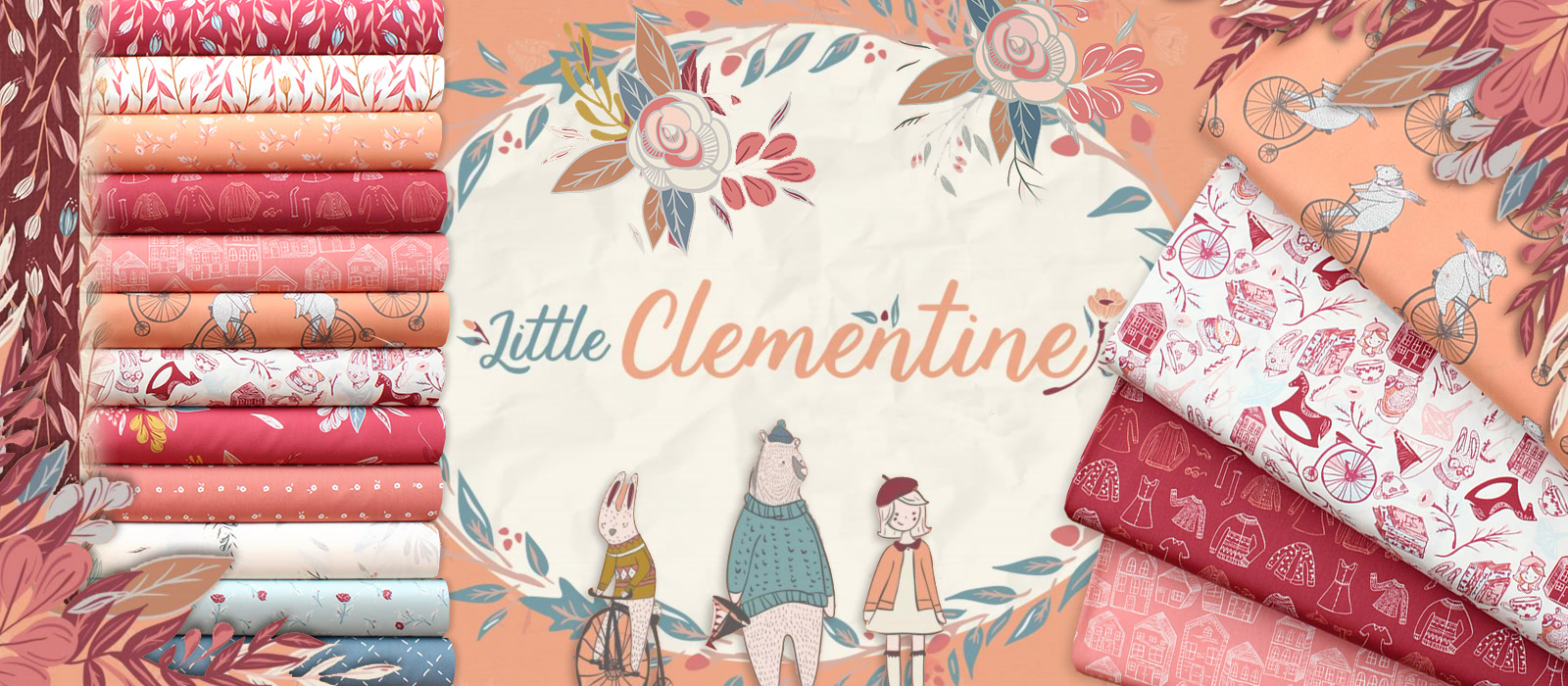 Art Gallery Fabrics Little Clementine Collection by AGF Studio