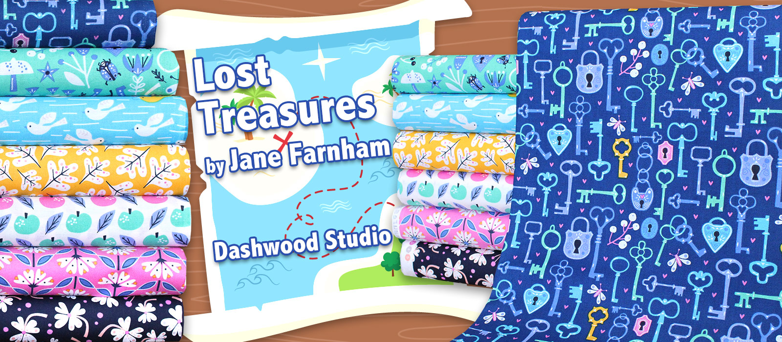 Dashwood Studio Lost Treasures Collection by Jane Farnham