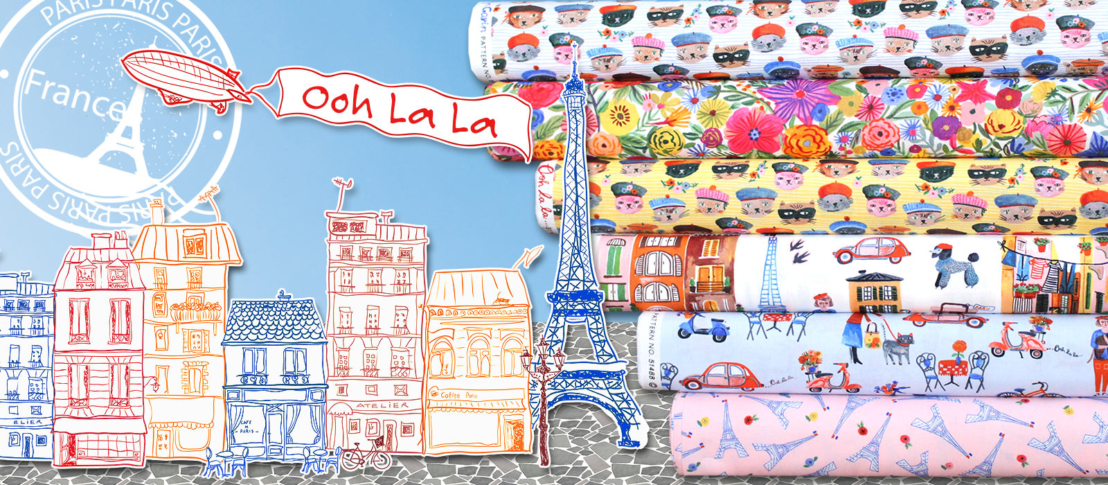 Windham Fabrics Ooh La La Collection by Carolyn Gavin