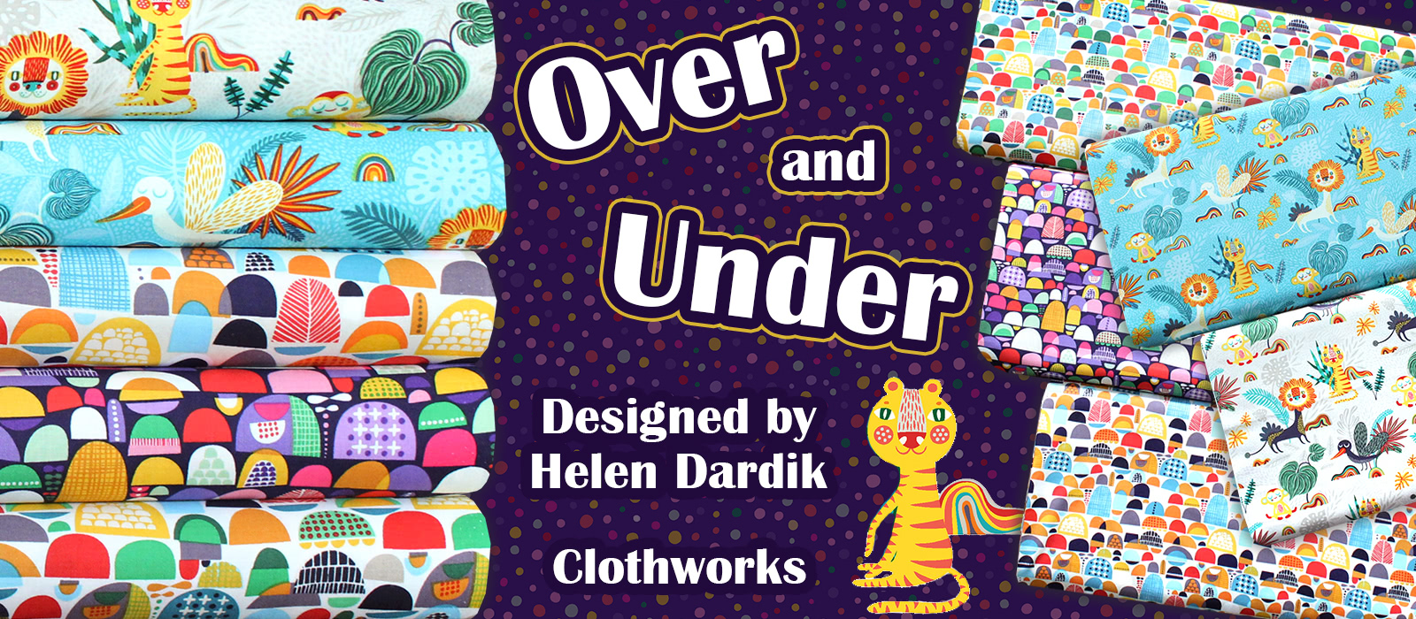 Clothworks Over and Under Collection by Helen Dardik
