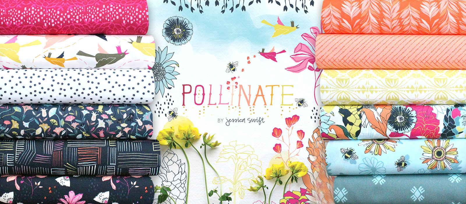 Art Gallery Fabrics Pollinate Collection by Jessica Swift