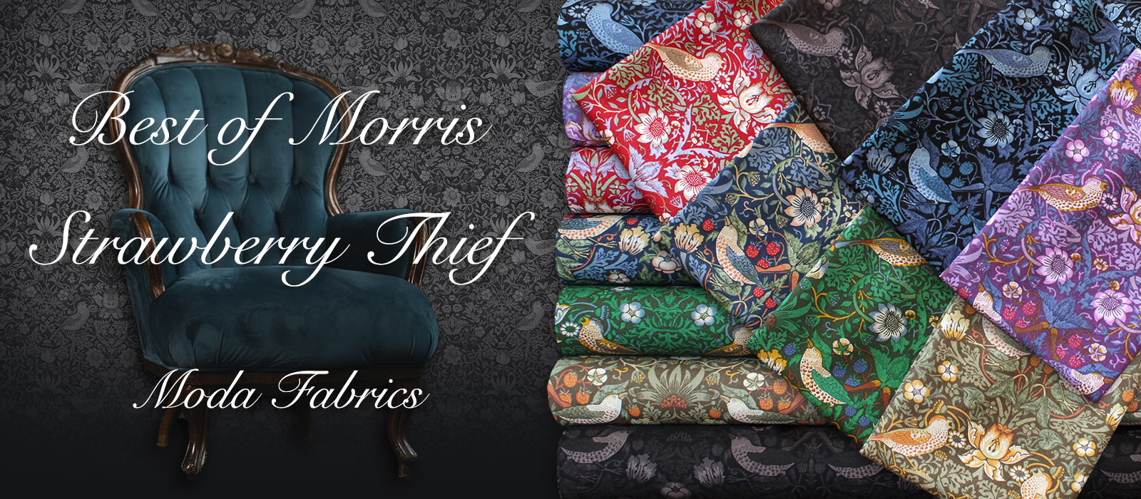 Moda Fabrics Best of Morris Collection Strawberry Thief